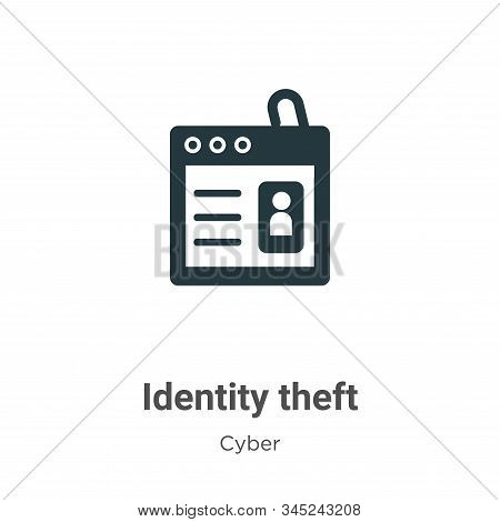 Identity Theft Vector Icon On White Background. Flat Vector Identity Theft Icon Symbol Sign From Mod