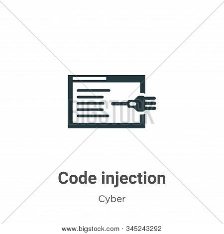 Code injection icon isolated on white background from cyber collection. Code injection icon trendy a