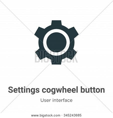 Settings cogwheel button icon isolated on white background from user interface collection. Settings