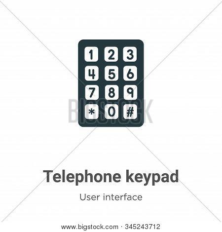 Telephone keypad icon isolated on white background from user interface collection. Telephone keypad