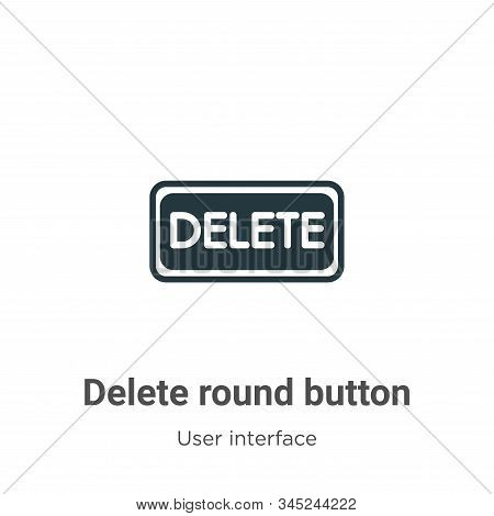Delete round button icon isolated on white background from user interface collection. Delete round b