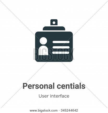 Personal credentials icon isolated on white background from user interface collection. Personal cred