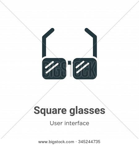 Square glasses icon isolated on white background from user interface collection. Square glasses icon