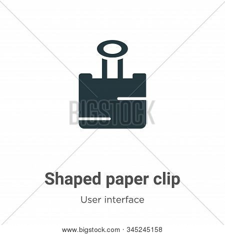 Shaped paper clip icon isolated on white background from user interface collection. Shaped paper cli