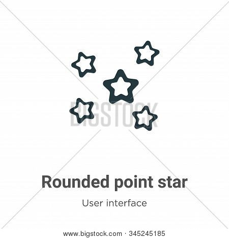 Rounded point star icon isolated on white background from user interface collection. Rounded point s