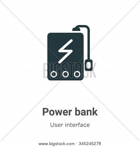Power bank icon isolated on white background from user interface collection. Power bank icon trendy