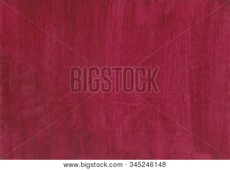 Garnet Deep Colour Background. Grunge Texture Imitating Harsh Fabric, Rough Brush And Wooden Surface