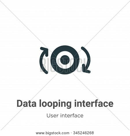 Data Looping Interface Vector Icon On White Background. Flat Vector Data Looping Interface Icon Symb