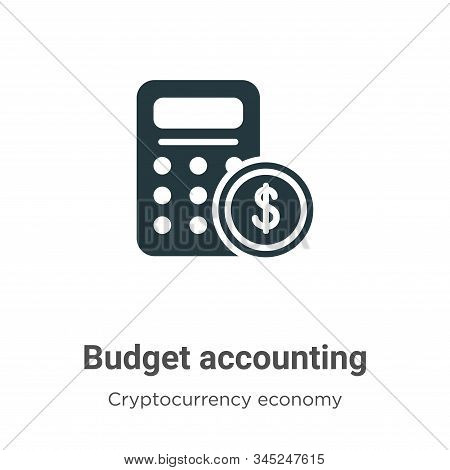 Budget accounting icon isolated on white background from cryptocurrency economy and finance collecti