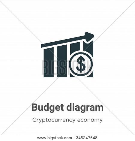 Budget diagram icon isolated on white background from cryptocurrency economy and finance collection.