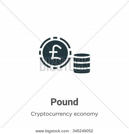 Pound icon isolated on white background from cryptocurrency economy and finance collection. Pound ic