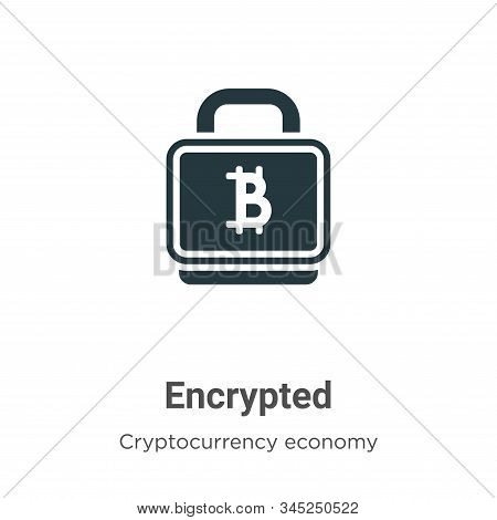 Encrypted Vector Icon On White Background. Flat Vector Encrypted Icon Symbol Sign From Modern Blockc
