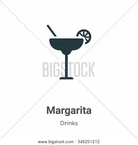 Margarita Vector Icon On White Background. Flat Vector Margarita Icon Symbol Sign From Modern Drinks