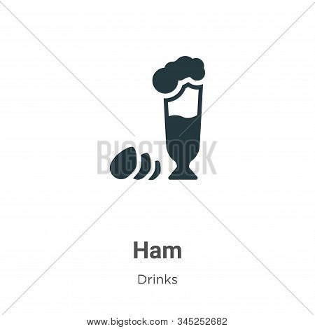 Ham icon isolated on white background from drinks collection. Ham icon trendy and modern Ham symbol