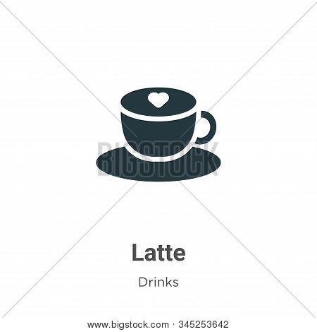 Latte icon isolated on white background from drinks collection. Latte icon trendy and modern Latte s