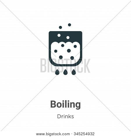 Boiling Vector Icon On White Background. Flat Vector Boiling Icon Symbol Sign From Modern Alcohol Co