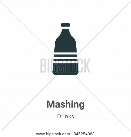 Mashing icon isolated on white background from alcohol collection. Mashing icon trendy and modern Ma