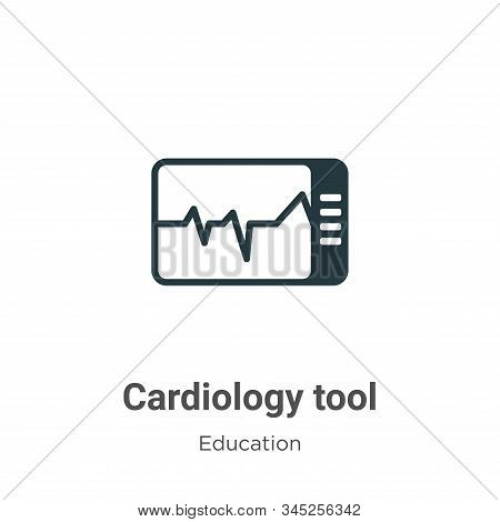 Cardiology tool icon isolated on white background from education collection. Cardiology tool icon tr