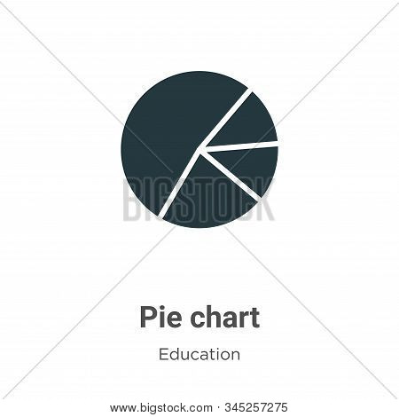 Pie chart icon isolated on white background from education collection. Pie chart icon trendy and mod