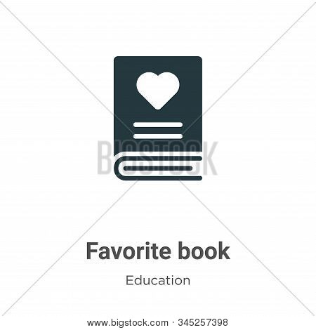 Favorite book icon isolated on white background from education collection. Favorite book icon trendy