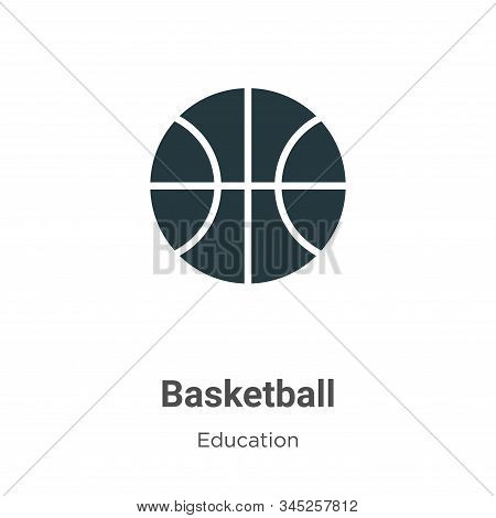 Basketball icon isolated on white background from education collection. Basketball icon trendy and m