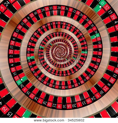 Roulette spiralling down