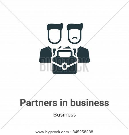 Partners In Business Vector Icon On White Background. Flat Vector Partners In Business Icon Symbol S