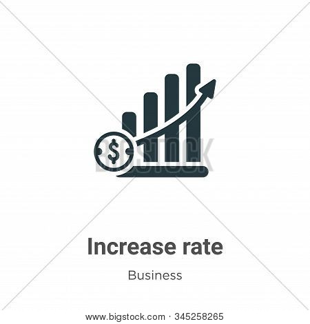 Increase rate icon isolated on white background from business collection. Increase rate icon trendy
