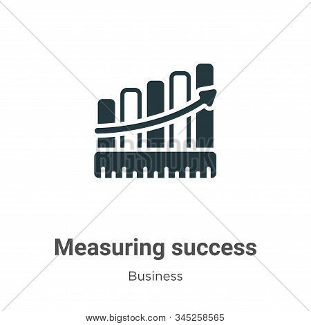 Measuring success icon isolated on white background from business collection. Measuring success icon