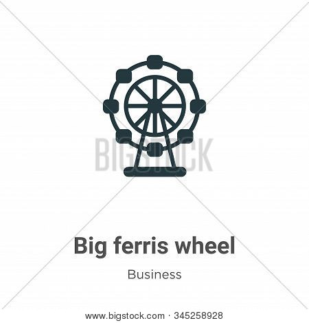 Big ferris wheel icon isolated on white background from business collection. Big ferris wheel icon t
