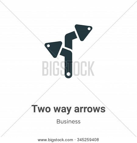 Two way arrows icon isolated on white background from business collection. Two way arrows icon trend