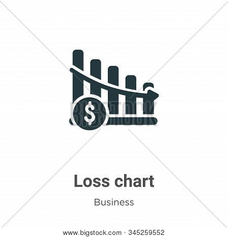 Loss chart icon isolated on white background from business collection. Loss chart icon trendy and mo