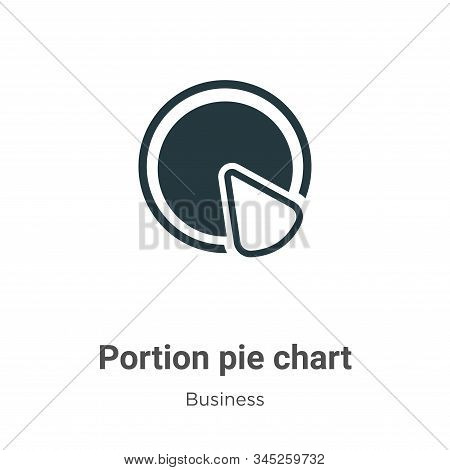 Portion pie chart icon isolated on white background from business collection. Portion pie chart icon