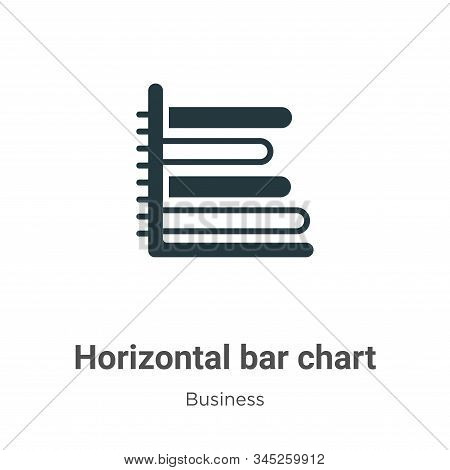 Horizontal bar chart icon isolated on white background from business collection. Horizontal bar char