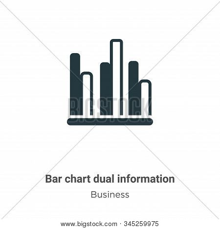 Bar chart dual information icon isolated on white background from business collection. Bar chart dua