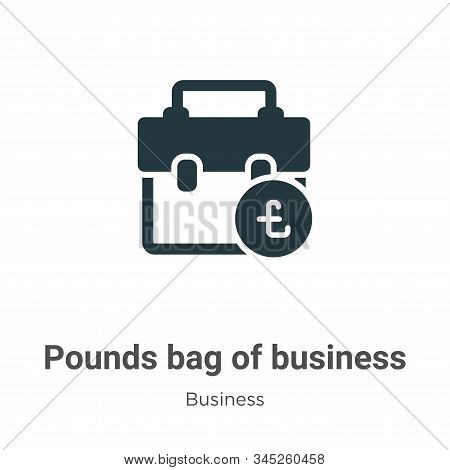 Pounds bag of business icon isolated on white background from business collection. Pounds bag of bus