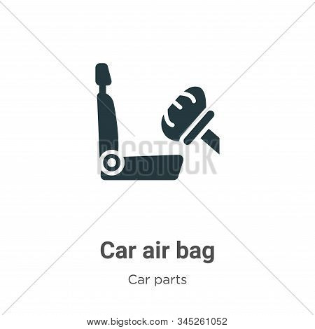 Car air bag icon isolated on white background from car parts collection. Car air bag icon trendy and