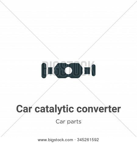 Car Catalytic Converter Vector Icon On White Background. Flat Vector Car Catalytic Converter Icon Sy