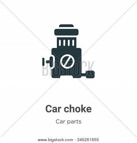 Car choke icon isolated on white background from car parts collection. Car choke icon trendy and mod