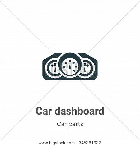 Car dashboard icon isolated on white background from car parts collection. Car dashboard icon trendy