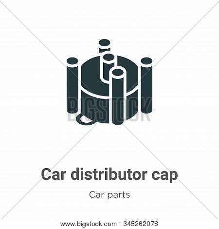 Car distributor cap icon isolated on white background from car parts collection. Car distributor cap