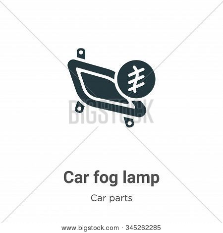 Car fog lamp icon isolated on white background from car parts collection. Car fog lamp icon trendy a