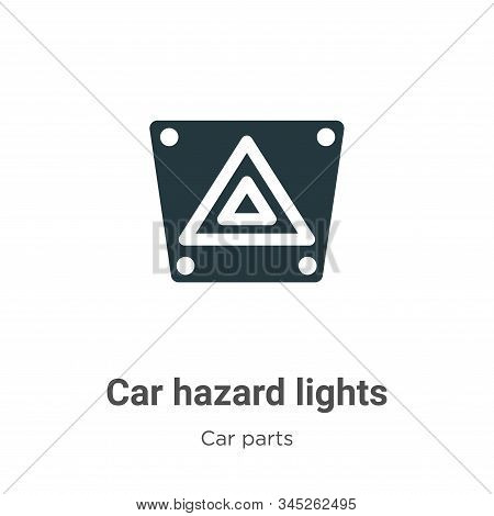 Car hazard lights icon isolated on white background from car parts collection. Car hazard lights ico