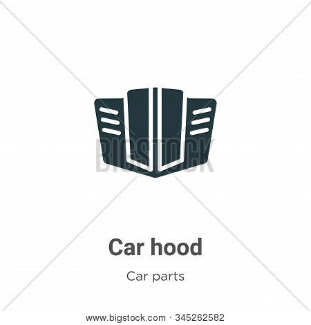 Car hood icon isolated on white background from car parts collection. Car hood icon trendy and moder