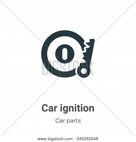 Car Ignition Vector Icon On White Background. Flat Vector Car Ignition Icon Symbol Sign From Modern