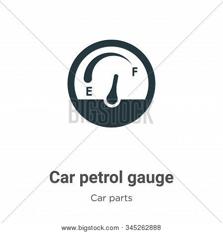 Car petrol gauge icon isolated on white background from car parts collection. Car petrol gauge icon