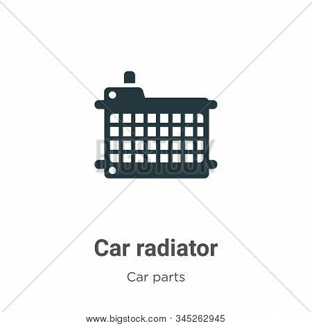 Car radiator icon isolated on white background from car parts collection. Car radiator icon trendy a
