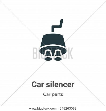 Car Silencer Vector Icon On White Background. Flat Vector Car Silencer Icon Symbol Sign From Modern