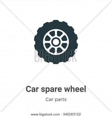Car Spare Wheel Vector Icon On White Background. Flat Vector Car Spare Wheel Icon Symbol Sign From M