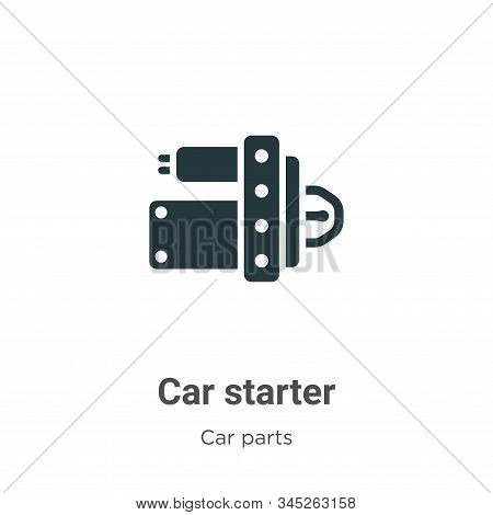 Car Starter Vector Icon On White Background. Flat Vector Car Starter Icon Symbol Sign From Modern Ca